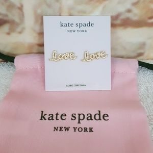 New kate spade Love Pave Stud Earrings